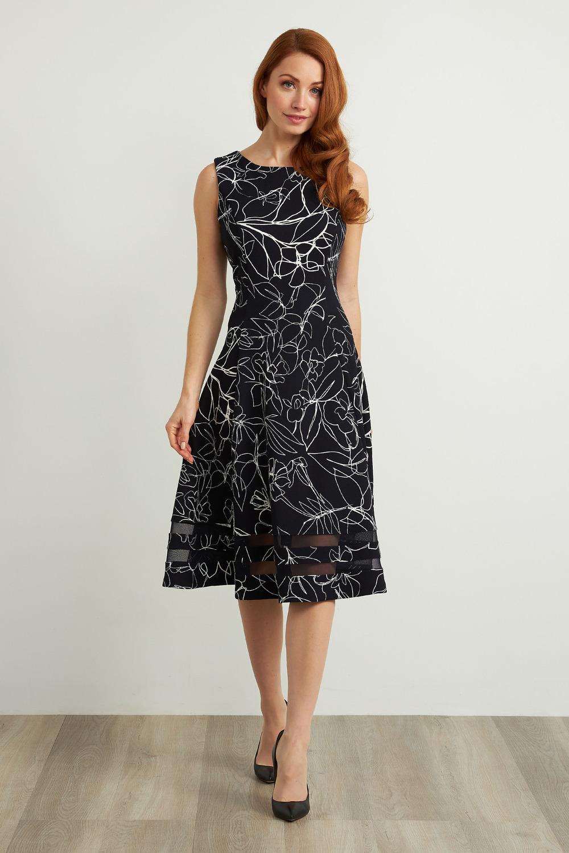 Joseph Ribkoff Midnight Blue/Vanilla Dresses Style 211299
