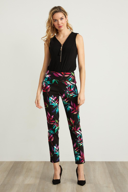 Joseph Ribkoff Black/Multi Pants Style 211321