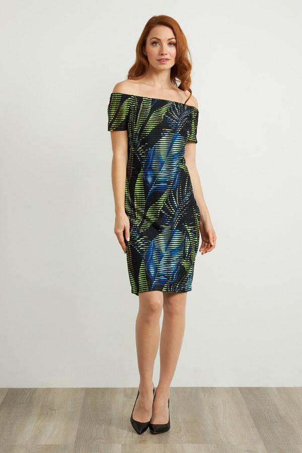Joseph Ribkoff Black/Multi Dresses Style 211324