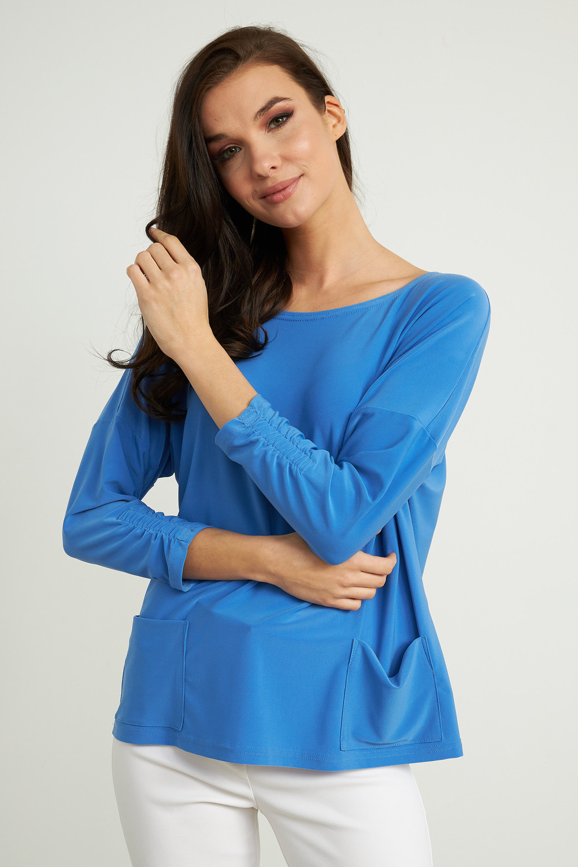 Joseph Ribkoff Aegean Sea Shirts & Blouses Style 211327