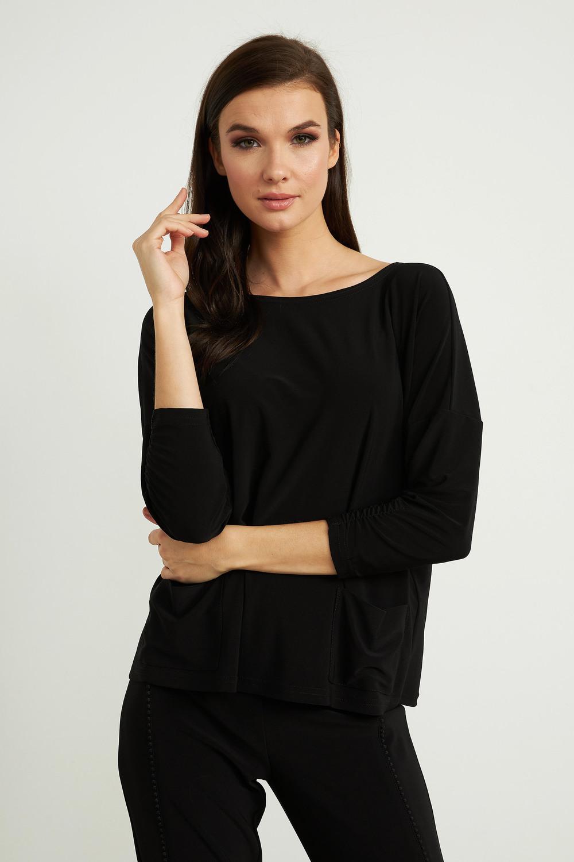 Joseph Ribkoff Black Tees & Camis Style 211327