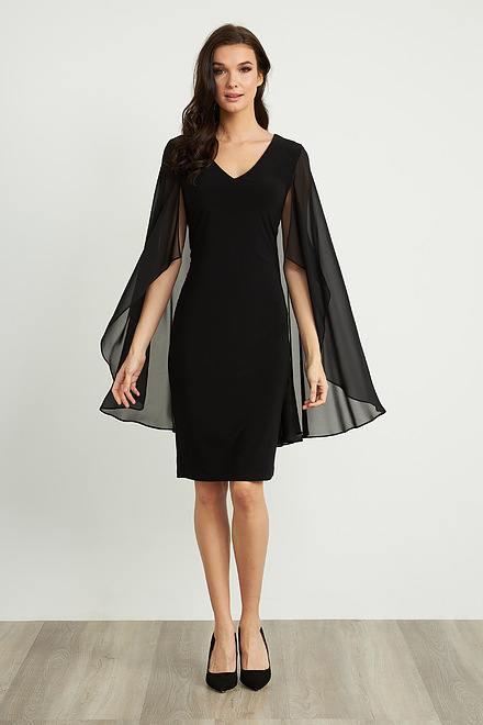 Joseph Ribkoff Sheer Cape Dress Style 211341