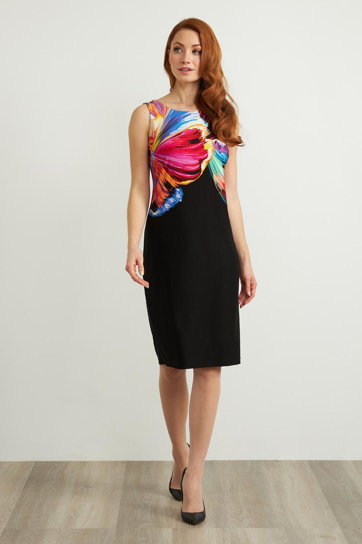 Joseph Ribkoff Robes Noir/Multi Style 211346