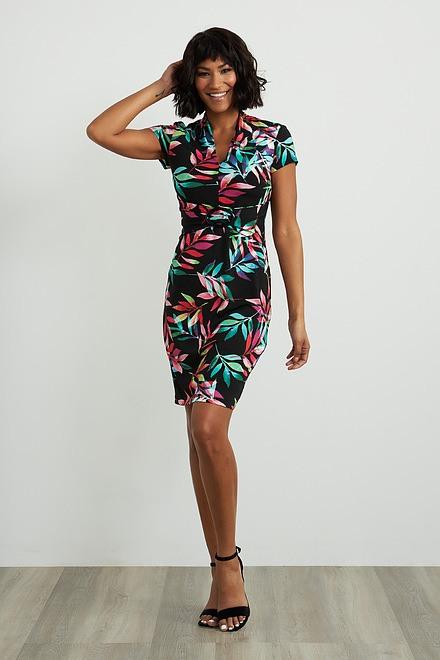 Joseph Ribkoff Black/Multi Dresses Style 211349