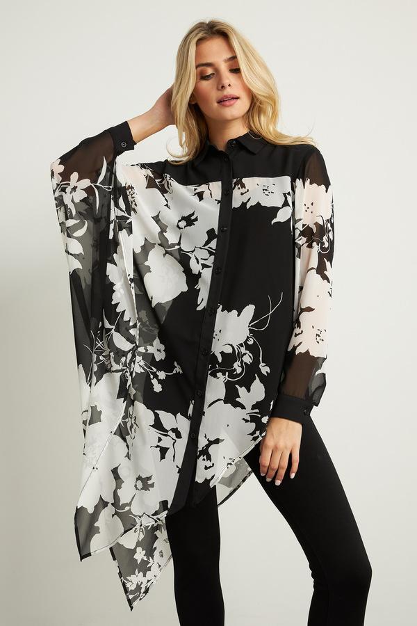 Joseph Ribkoff Chemises et blouses Noir/Blanc Style 211352