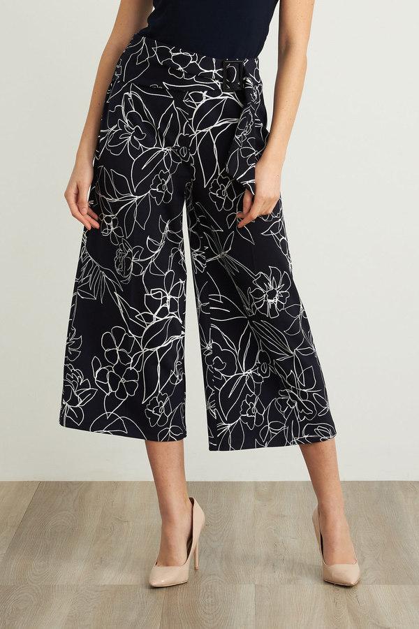 Joseph Ribkoff Midnight Blue/Vanilla Pants Style 211362