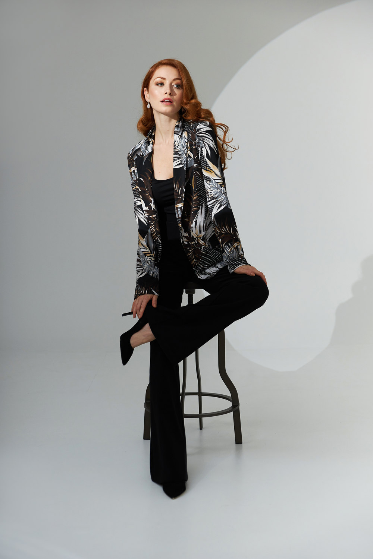Joseph Ribkoff Black/Multi Blazers Style 211364