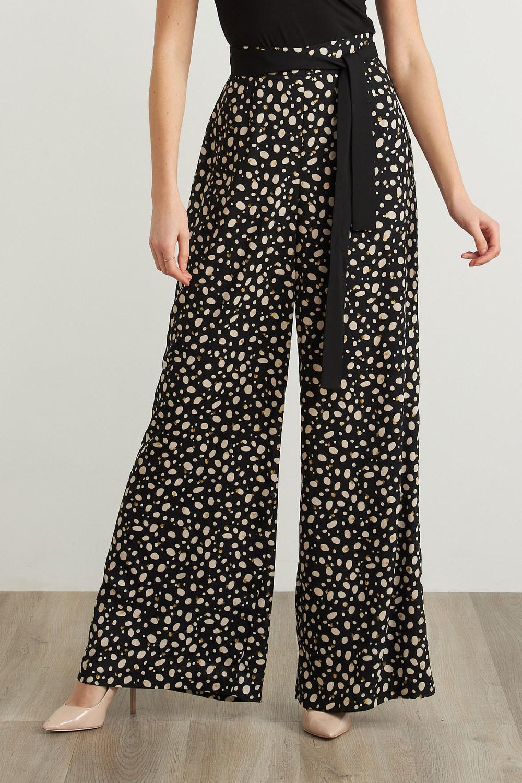Joseph Ribkoff Black/Ecru Pants Style 211371