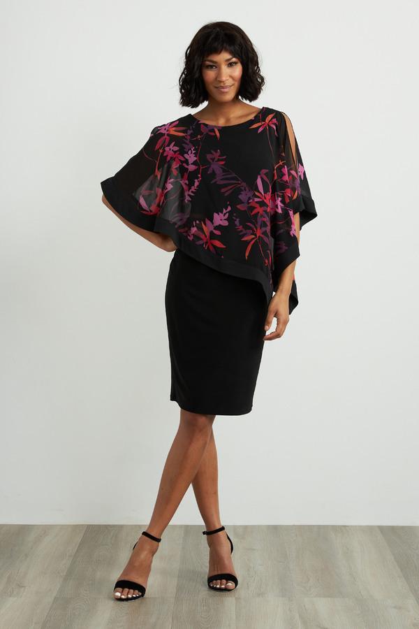 Joseph Ribkoff Black/Multi Dresses Style 211374