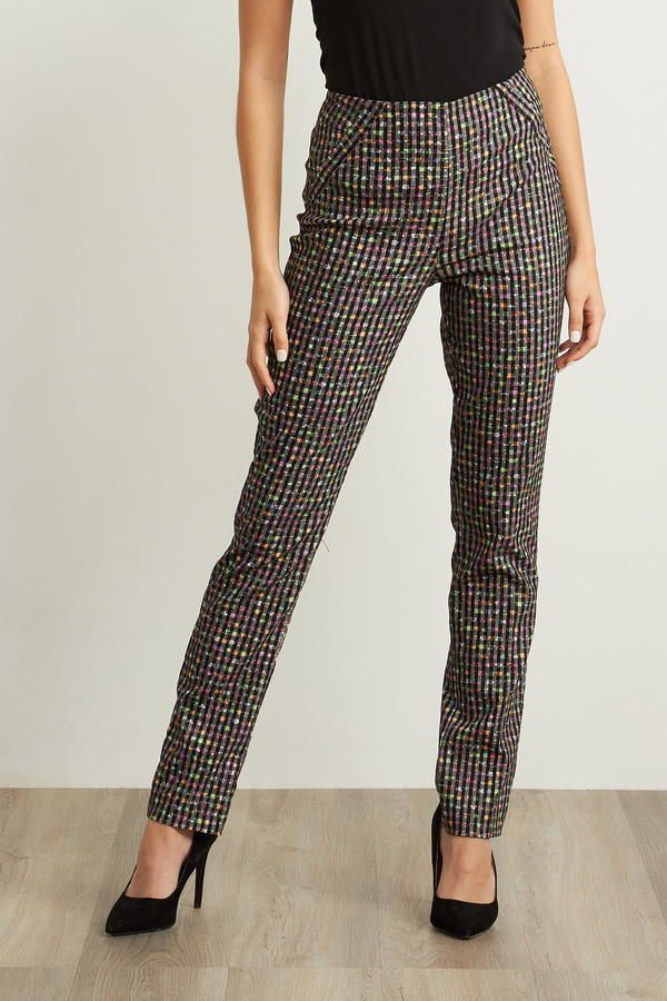 Joseph Ribkoff Pantalons Noir/Multi Style 211376