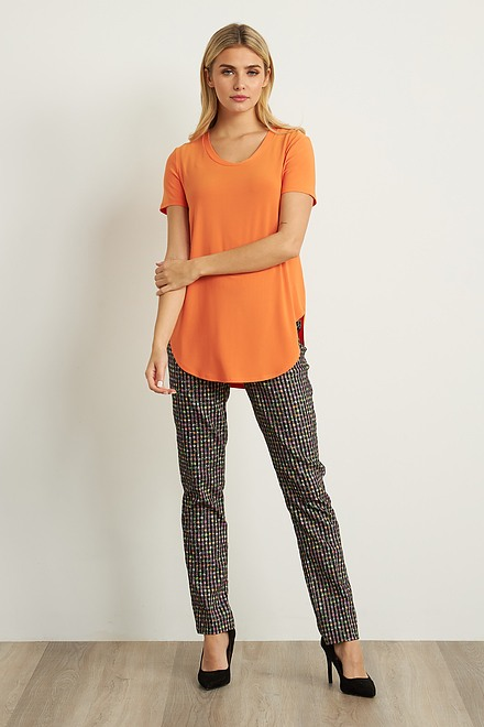 Joseph Ribkoff Black/Multi Pants Style 211376
