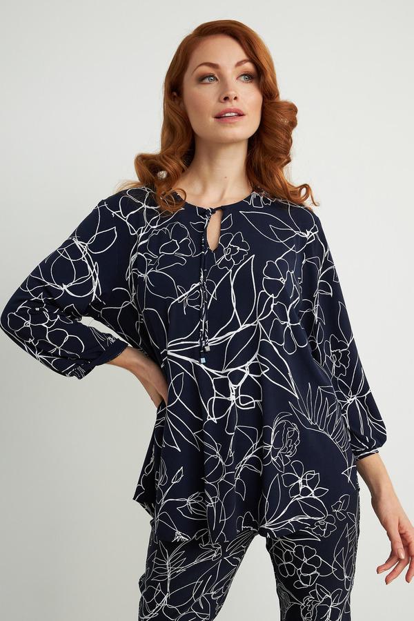 Joseph Ribkoff Chemises et blouses Bleu Minuit/Vanille Style 211377