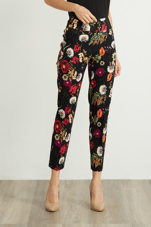 Joseph Ribkoff Black/Multi Pants Style 211382