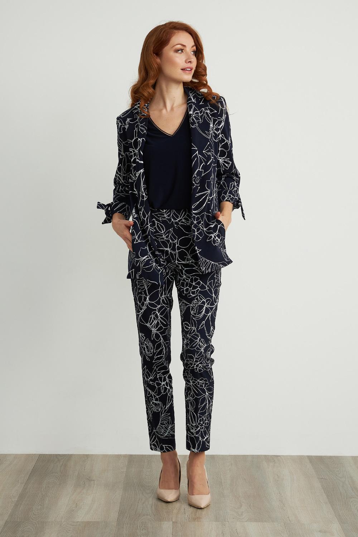 Joseph Ribkoff Midnight Blue/Vanilla Pants Style 211385