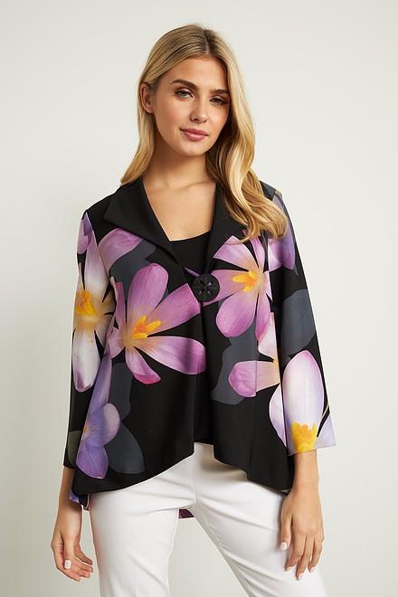 Joseph Ribkoff Floral 3/4 Sleeve Jacket Style 211395