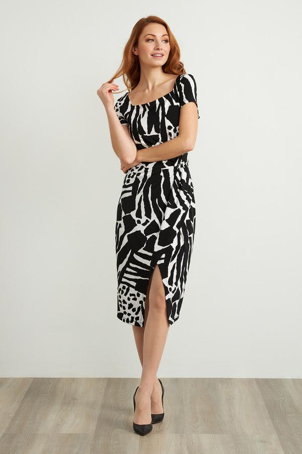 Joseph Ribkoff Vanilla/Black Dresses Style 211397