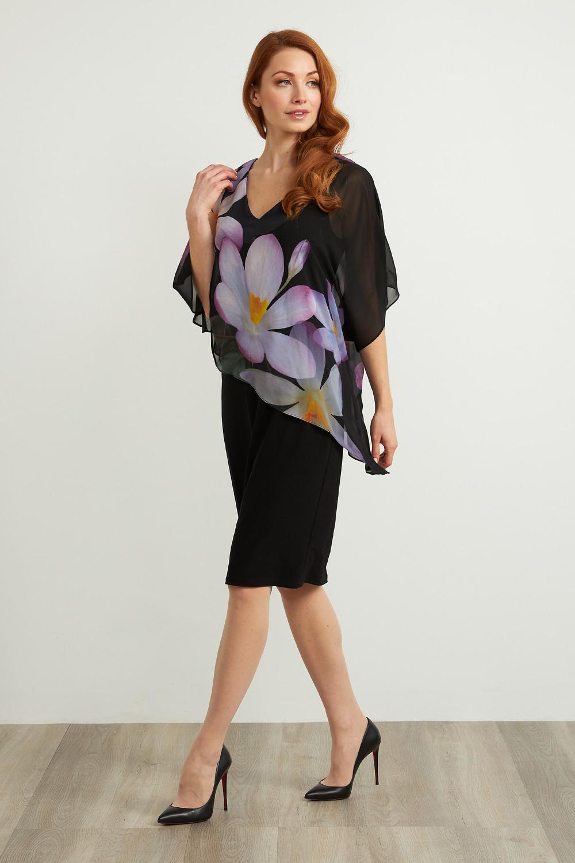 Joseph Ribkoff Robes NOIR/MAUVE/MULTI Style 211408