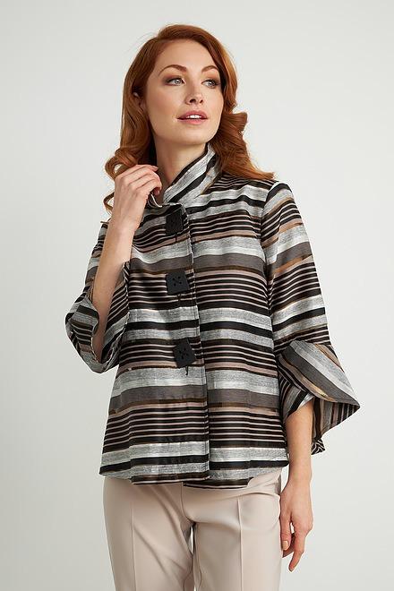 Joseph Ribkoff Striped Tulip Sleeve Jacket Style 211409