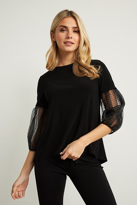 Joseph Ribkoff Black Shirts & Blouses Style 211418
