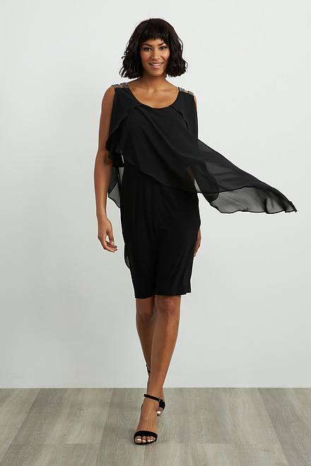 Joseph Ribkoff Cold Shoulder Layer Dress Style 211421
