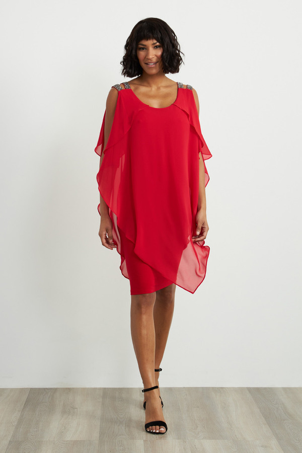 Joseph Ribkoff Robes Rouge A Levres 173 Style 211421