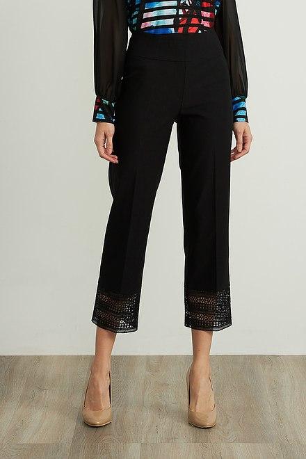 Joseph Ribkoff Lace Trim Capris Style 211436