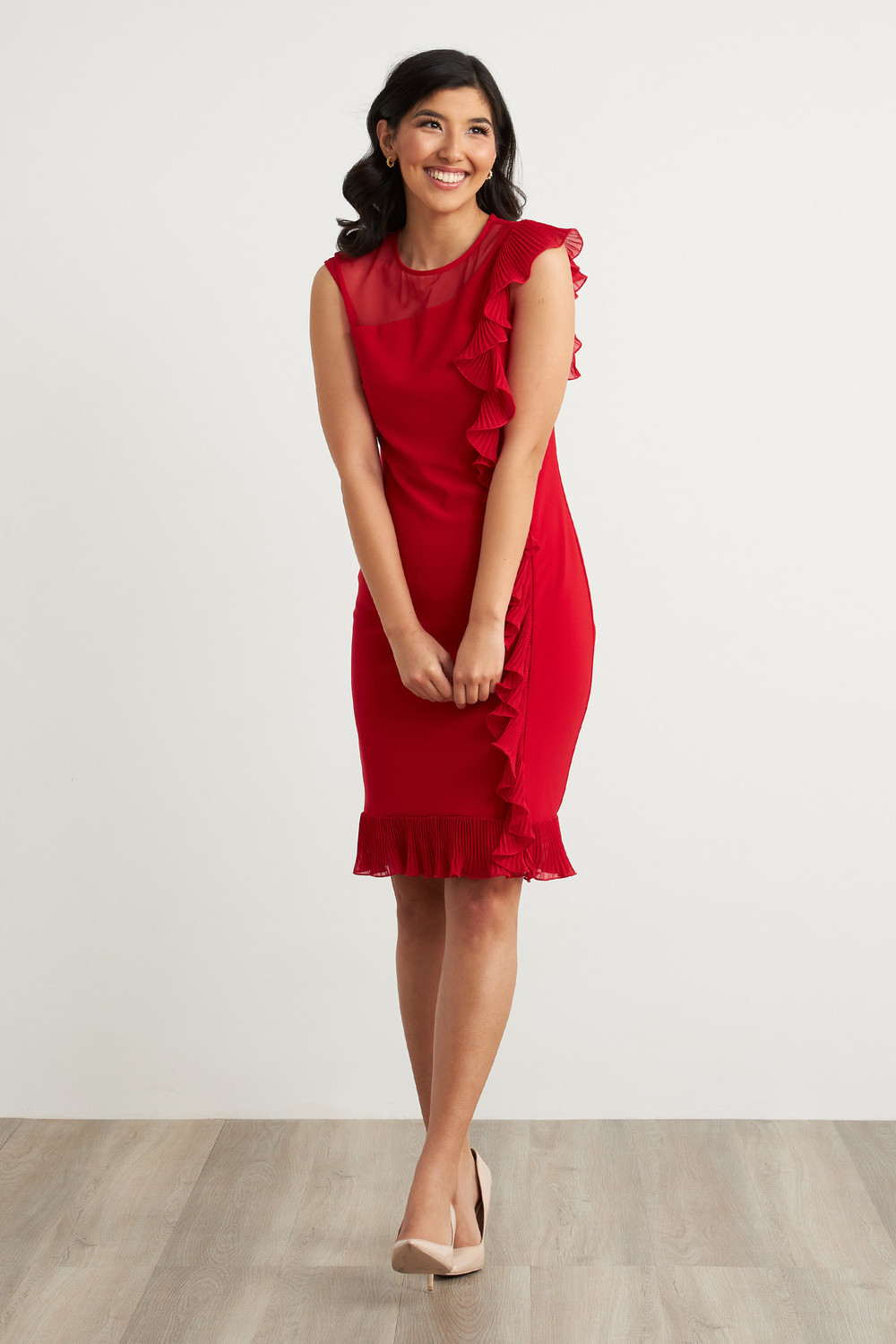 Joseph Ribkoff Robes Rouge A Levres 173 Style 211476