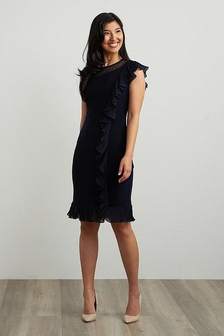 Joseph Ribkoff Frilled Dress Style 211476