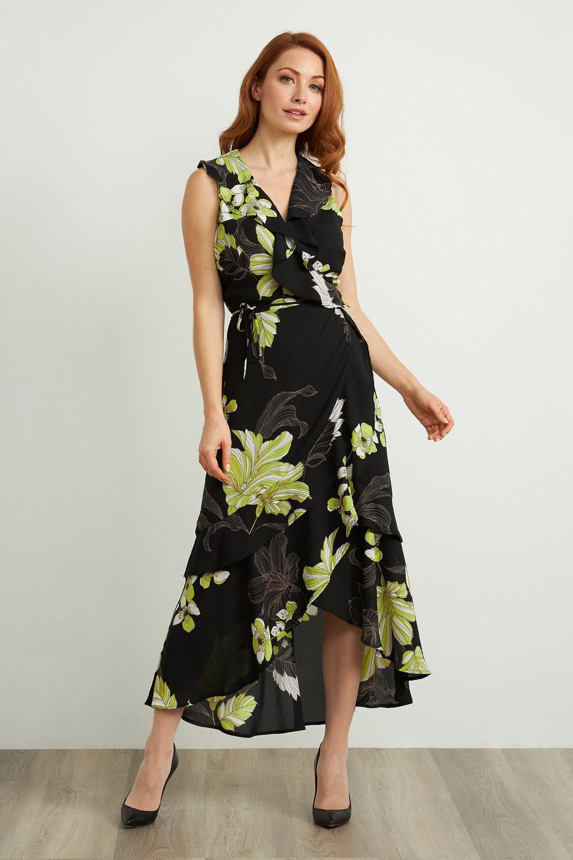 Joseph Ribkoff Robes Noir/Multi Style 211483