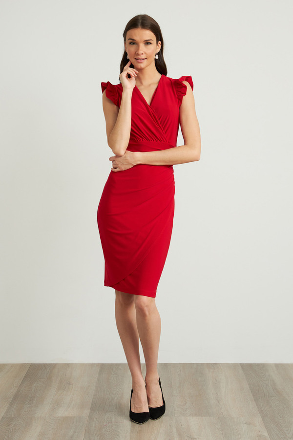Joseph Ribkoff Robes Rouge A Levres 173 Style 211491