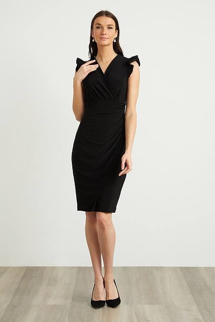 Joseph Ribkoff Frilled Sleeve Dress Style 211491