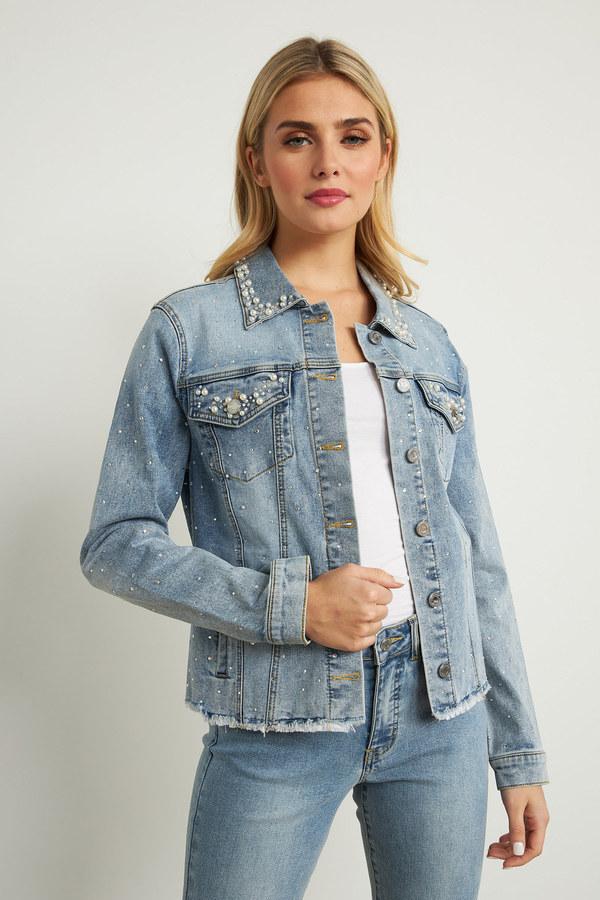 Joseph Ribkoff LIGHT BLUE DENIM Jackets Style 211905