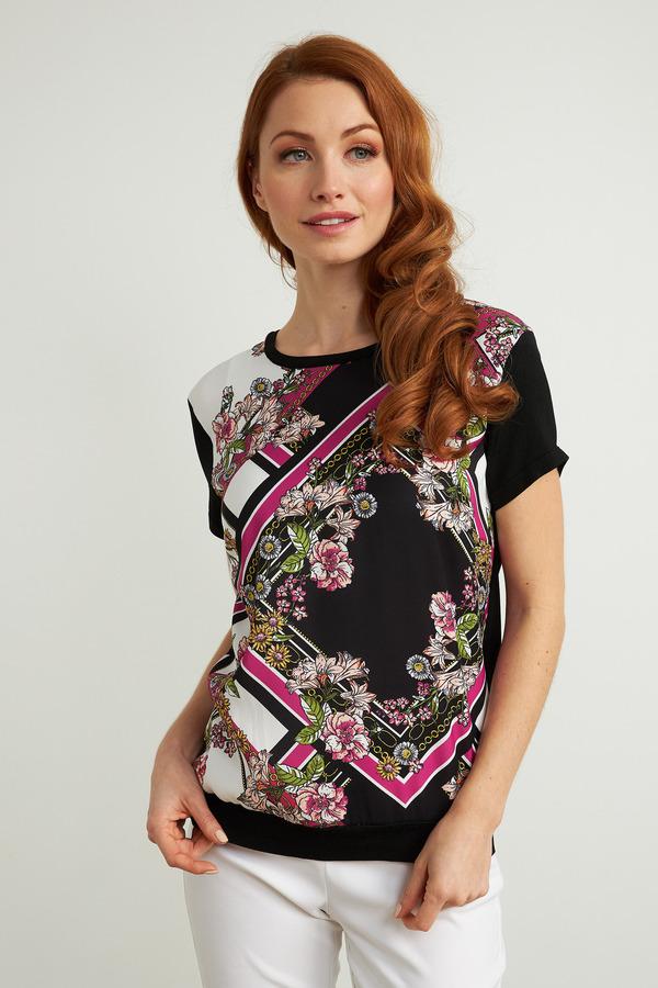 Joseph Ribkoff Black/Multi Tees & Camis Style 211926