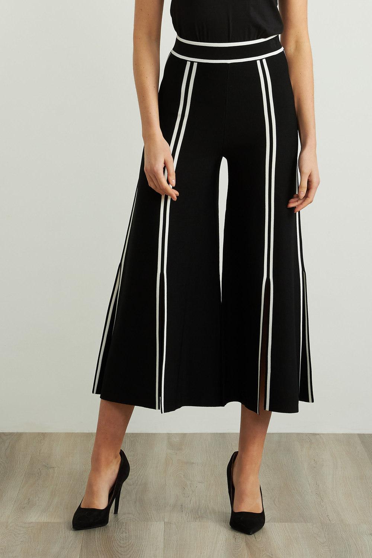 Joseph Ribkoff Pantalons Noir/Vanille Style 211930