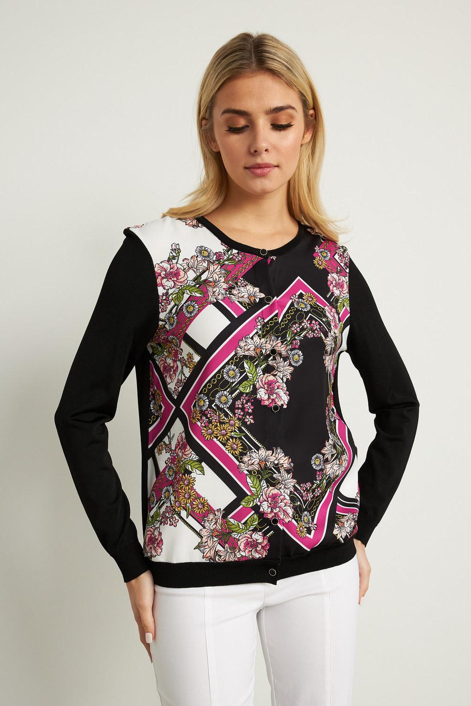 Joseph Ribkoff Black/Multi Cardigans Style 211932