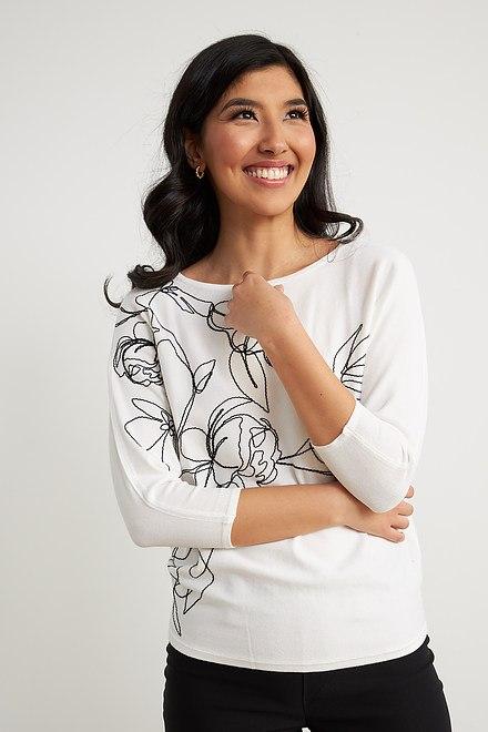 Joseph Ribkoff Chemises et blouses Vanille/Noir Style 211938