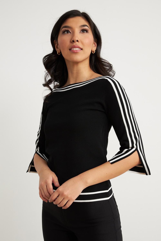 Joseph Ribkoff Black/Vanilla Shirts & Blouses Style 211939