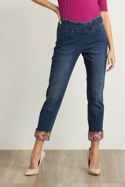 Joseph Ribkoff Denim Medium Blue Jeans Style 211946