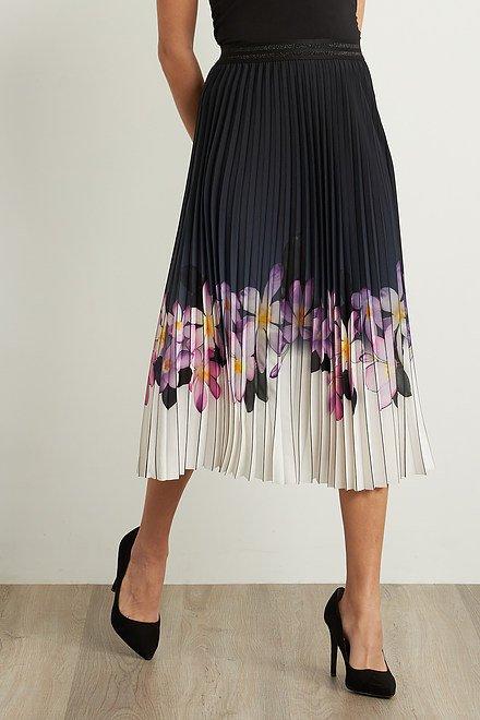 Joseph Ribkoff Pleated Floral Skirt Style 211956