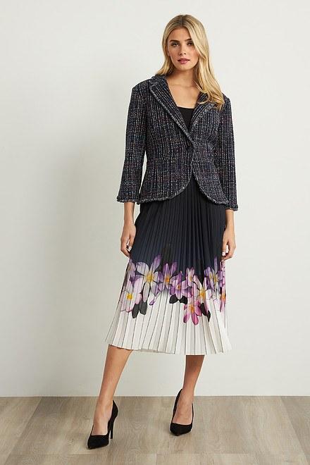 Joseph Ribkoff BLACK/PURPLE/MULTI Skirts Style 211956