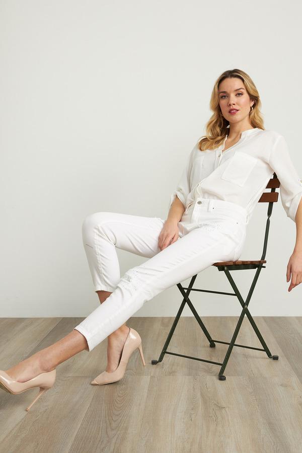 Joseph Ribkoff White Jeans Style 211977