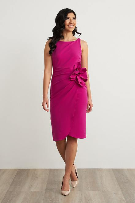 Joseph Ribkoff Flower Adornment Dress Style 211469