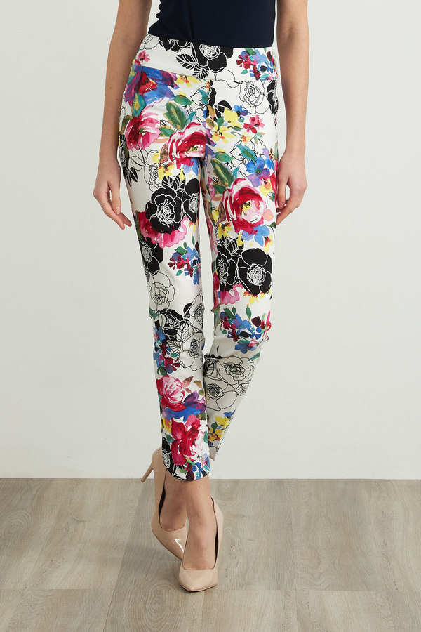 Joseph Ribkoff Cropped Floral Pant Style 212010. Multi