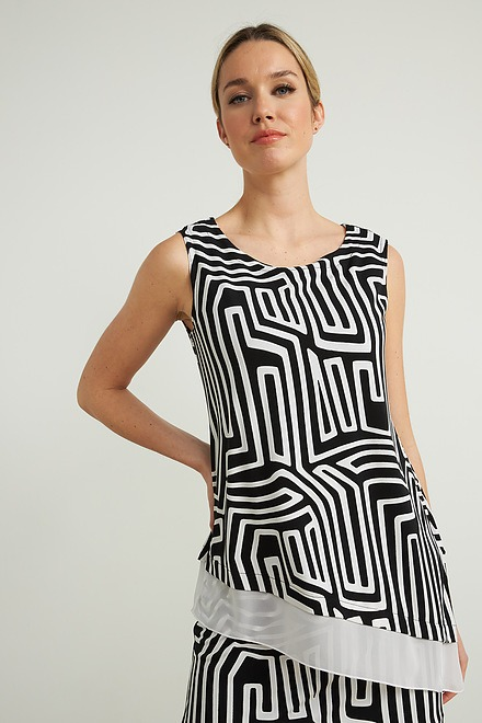 Joseph Ribkoff Black/Vanilla Tunics Style 212025
