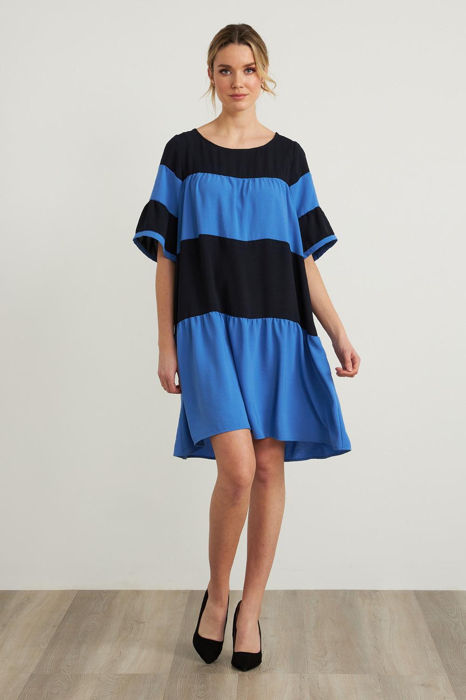 Joseph Ribkoff Midnight Blue/Multi Dresses Style 212029