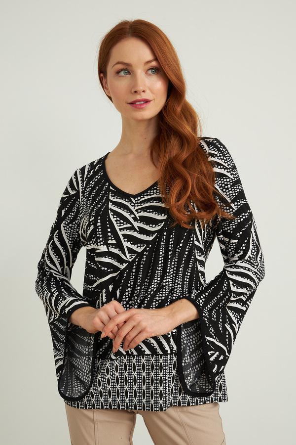Joseph Ribkoff Chemises et blouses Noir/Vanille Style 212032