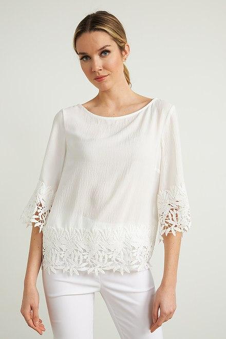 Joseph Ribkoff Crochet Top Style 212033