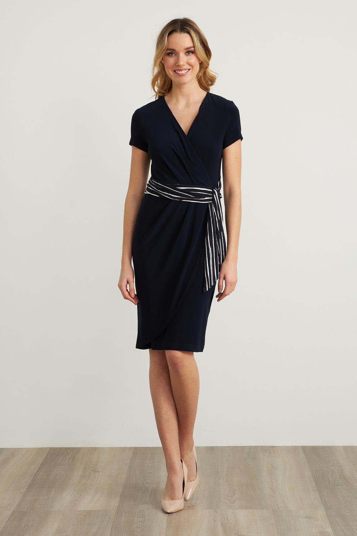 Joseph Ribkoff Robes Bleu Minuit/Blanc Style 212039