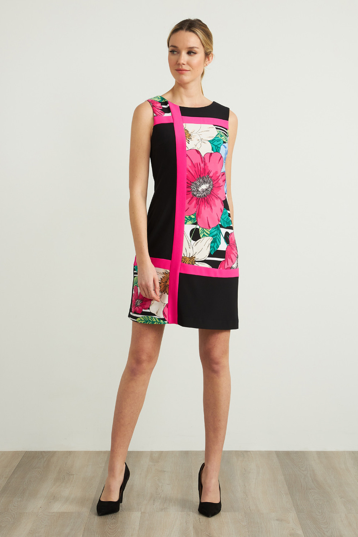 Joseph Ribkoff Black/Multi Dresses Style 212040