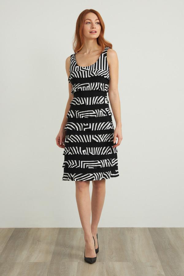 Joseph Ribkoff Black/Vanilla Dresses Style 212044